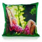 Almofada verde com foto