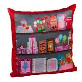 Almofada vermelha com foto